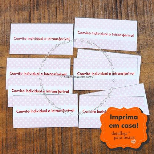 Convitinho Individual (imprima Em Folha A4)