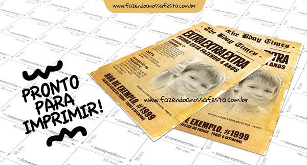Convite Jornal Antigo