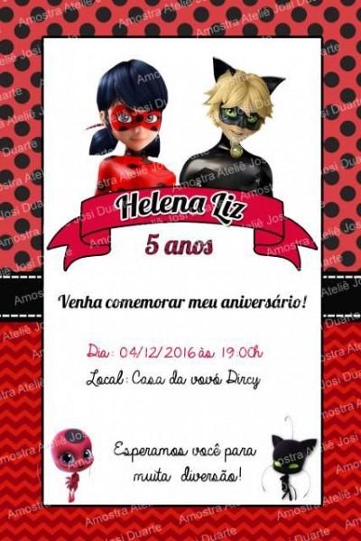 Convite Ladybug  60 Modelos Fantásticos Para Se Inspirar, Confira!
