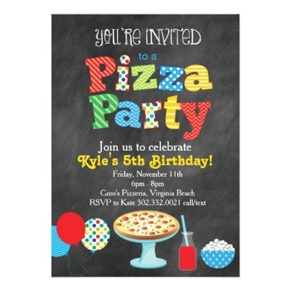 Convite Noite Da Pizza  24 Convites Para Pizza Party! – Modelos De