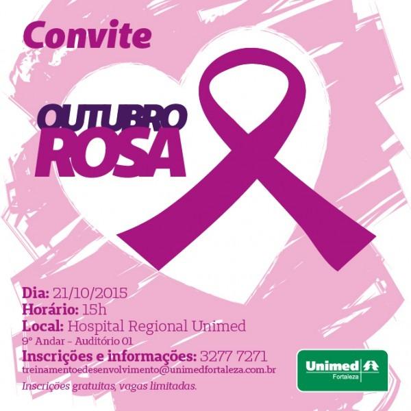 Evento Em Alusão Ao Outubro Rosa