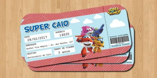 Convite Super Wings No Elo7
