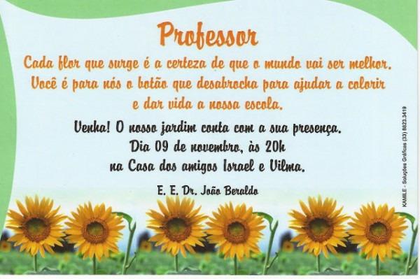 Informativo Girassol  Festa Do Professor