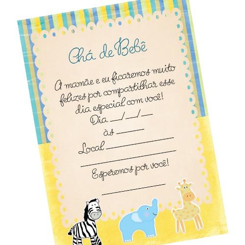 Para Imprimir] Convite Para Chá De Bebê Tema Safari