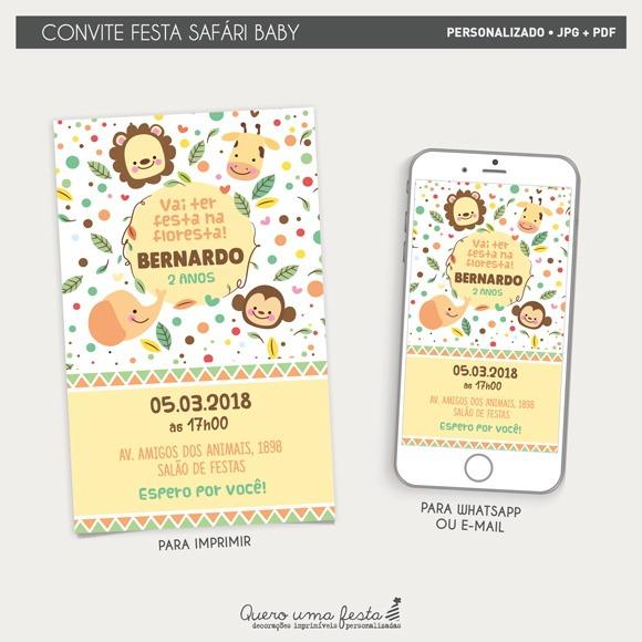 Convite Safári Baby