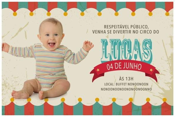 Convite Virtual Festa Infantil Personalize Seu Tema