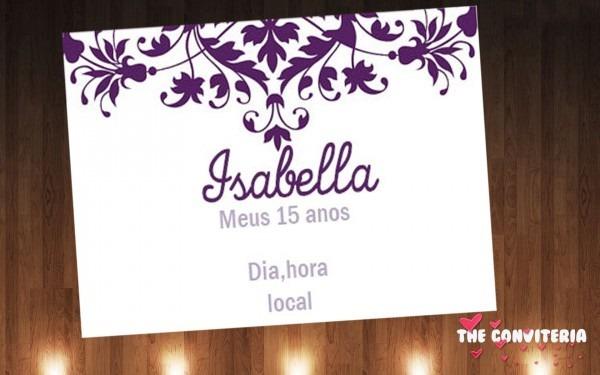 Convite De 15 Anos Lilas