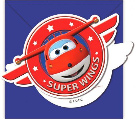 6 Convites Aniversário Super Wings