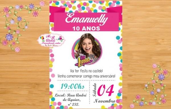 Convites De Aniversário Soy Luna 3 » Happy Birthday World