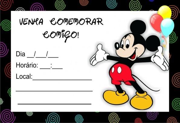 Gn Convites De Festas  Convite Do Mickey Mouse 10 05 2014