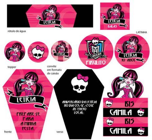 Convites Para Festa Monster High 1 – Plantas De Casas