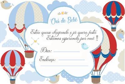 Kit Chá De Bebe + 12 Convites Grátis Para Imprimir ChÁ De Fralda