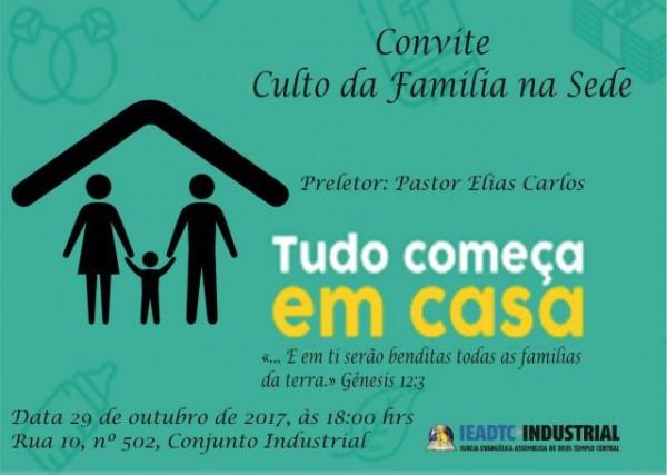 Culto Da Família Na Igreja Sede – 29 De Outubro De 2017 – Ad