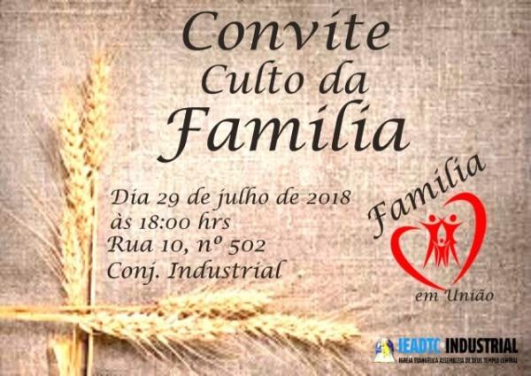 Culto Da Família – Sede – Ad Industrial