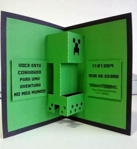 Ks81 Arquivo De Corte Silhouette Convite Minecraft 3d