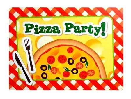 Convite Temático Pizza Party