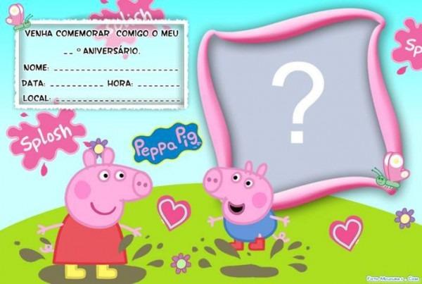 Convite De Aniversario Peppa Pig Para Editar E Imprimir