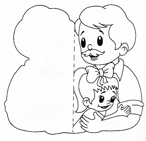 Desenhos E Mensagens Para O Dia Dos Pais Para Colorir — SÓ Escola