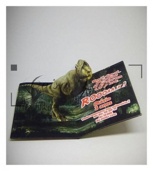 Convite Pop Up Dinossauro – Coisa Linda