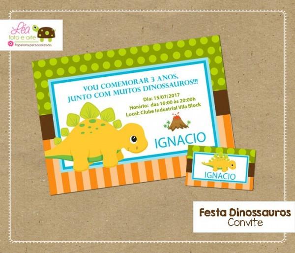 Convite Festa Dinossauro No Elo7