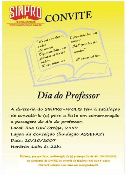 Convite Para Festa Dos Professores – Modelos De Convite