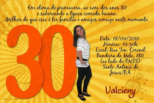 Frases Para Convite Aniversario 30 Anos 1 » Happy Birthday World