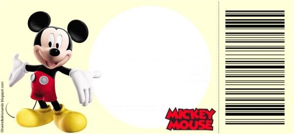 Convite Ingresso Mickey Para Imprimir