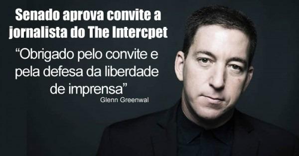 Glenn Greenwald Manifesta Gratidão Por Convite Para Audiência No