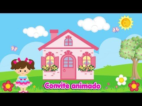 Convite Animado Casinha De Boneca Com Luana 4 Anos! By Vanessa