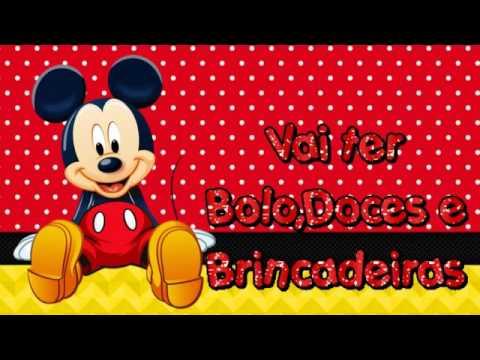 Convite Virtual Mickey 9 Fotos Você Escolhe A Musica De Fundo