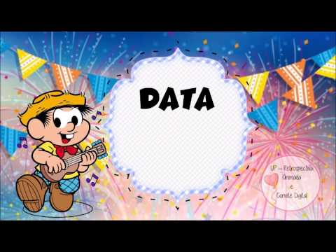 Convite Digital Animado Chico Bento E Rosinha