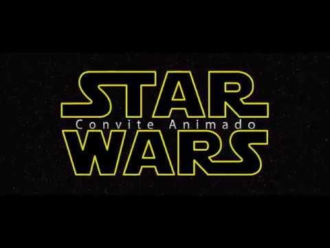 Modelo Convite Animado Star Wars