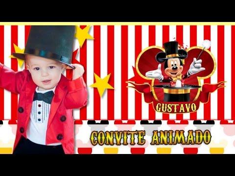 Convite Animado Virtual Circo Do Mickey Mod 01