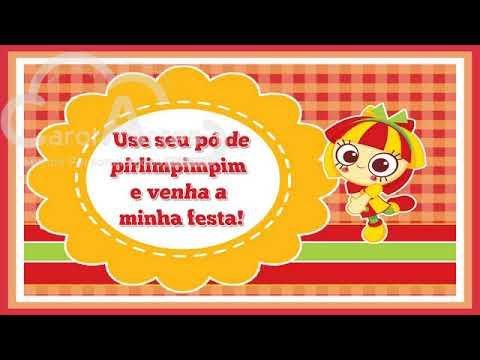 Convite Animado Emília Sítio Do Pica Pau Amarelo