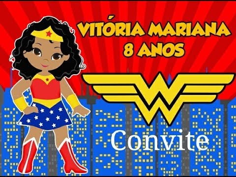 Preparativos Festa Mulher Maravilha  Convite  5