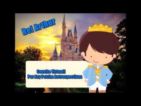 Convite Virtual Tema Rei Arthur 1 Aninho