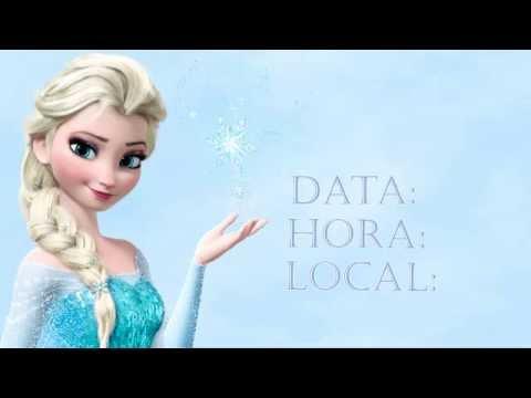 Projeto Convite Virtual Da Frozen