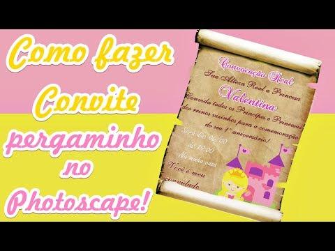Como Fazer Convite Pergaminho No Photoscape