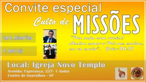 Convite Culto De MissÕes