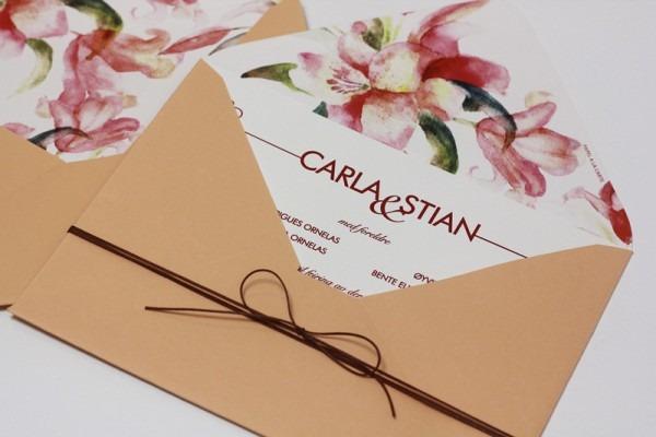 Inspirações De Convites Florais Para O Seu Casamento!
