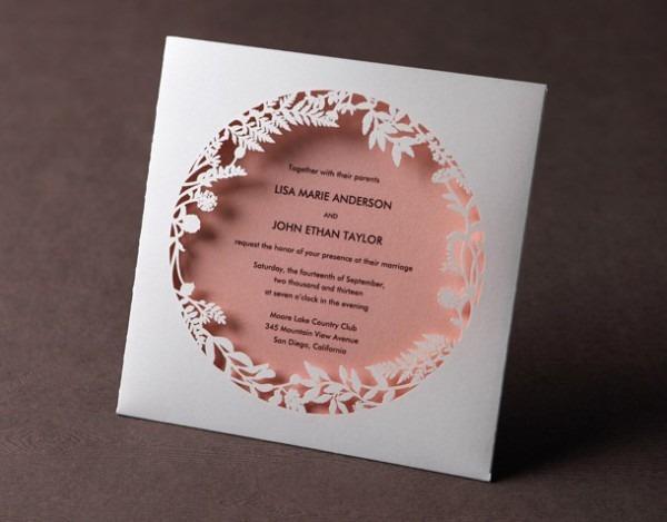 Kit 10 Unid  Convite Casamento A Laser Floresta Encantada