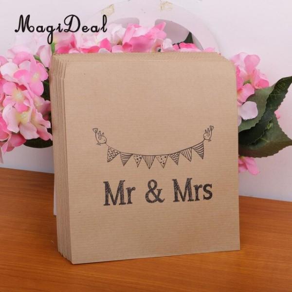 Magideal 50 Pçs Lote Papel Kraft Envelope Do Convite De Casamento
