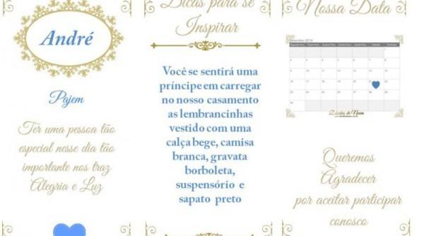 Manual Convite Para Damas, Pajens E Floristas Editáveis
