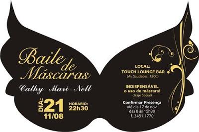 Portifólio  Convite Aniversário Baile De Mascaras