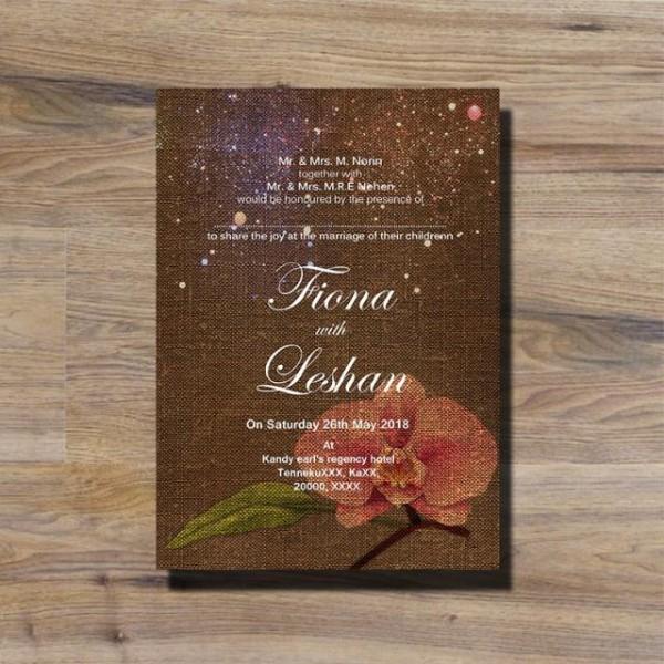 Convite De Casamento Floral Rústico Modelo Para Download Gratuito