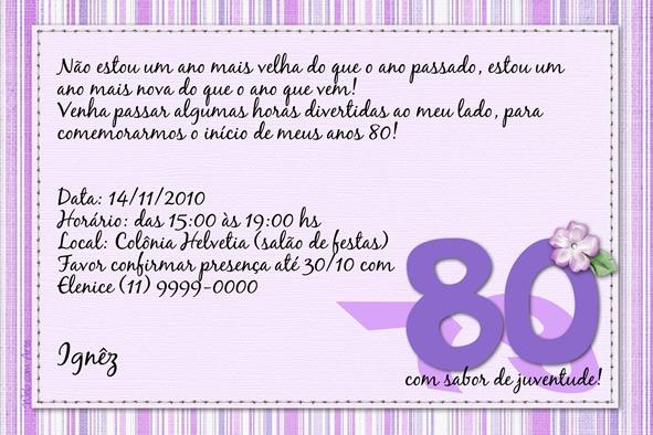 Mensagem Aniversario 80 Anos