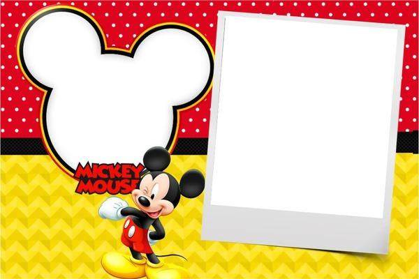 Molduras Do Mickey Para Convite De Aniversario 6 » Happy Birthday
