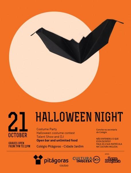 Halloween Night  Festa Incentiva A Comunicação Em Inglês No