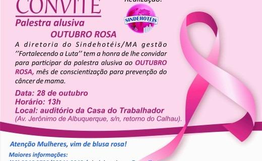 Convite – Palestra Alusiva Outubro Rosa