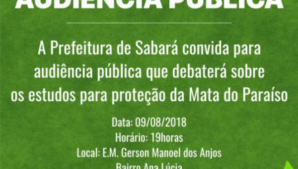 Convite Para Audiência Pública – Prefeitura De Sabará